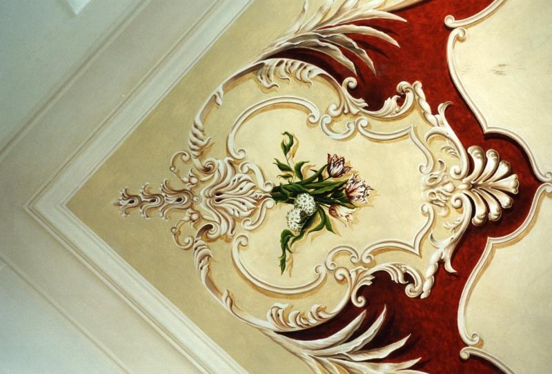 Decorazioni decorazione soffitto in stile barocco - Decorazioni per soffitti ...