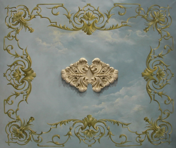 Decorazioni soffitto settecentesco - Decorazioni soffitto ...