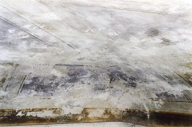 Restauro di soffitto ottocentesco dipinto a tempera. Prima dell ...